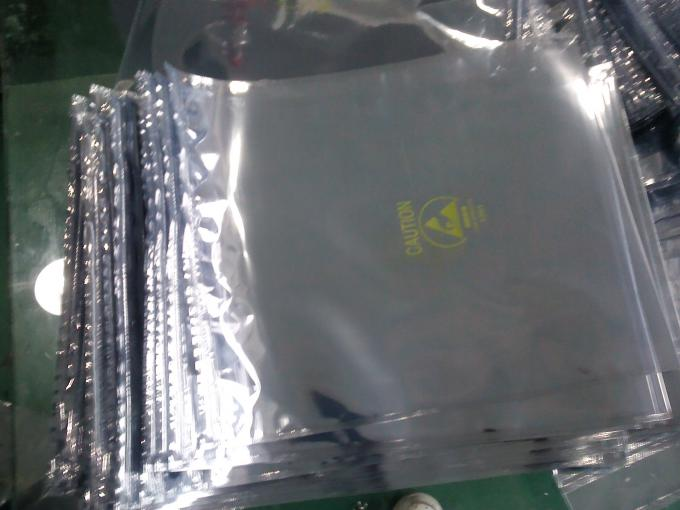 8x10 Inch Static Proof Bags , Silver Anti Static Bags For Electronic Packing