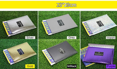 China Tamper Proof Metallic Bubble Mailer , Custom Bubble Mailers 23x29cm supplier