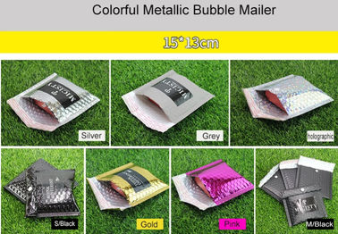 China 15x13cm Purple Metallic Bubble Mailer Easy Using With Excellent Shock Resistance distributor